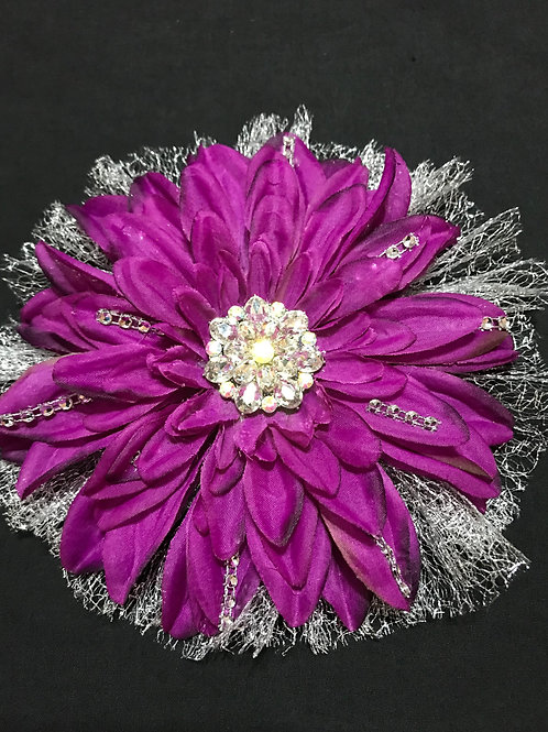 Large Purple with rhinestone and bling
