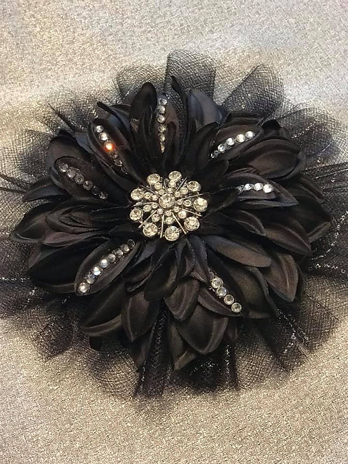 Medium black with rhinestones and bling