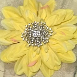 Large Yellow with Rhinestone Center