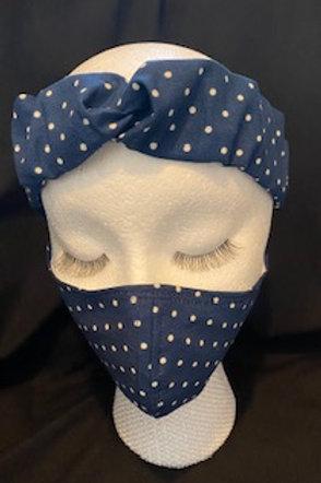 French Knot Headband & Mask Set