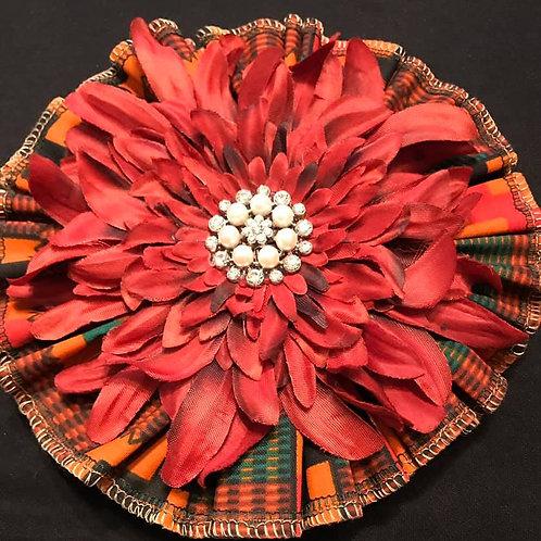 African Medium Maya Angelou lapel flower