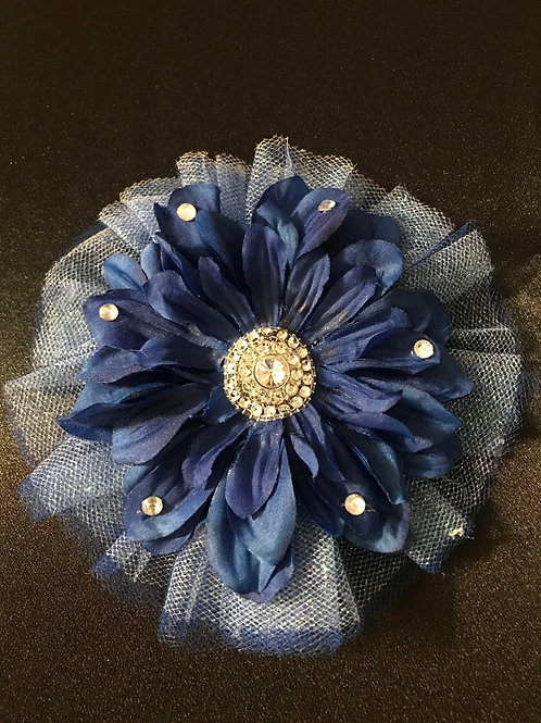 Medium Blue with Rhinestone Center and Petal Bling