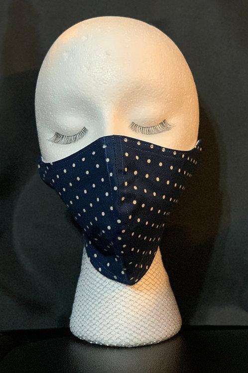 Navy Polka Dot mask