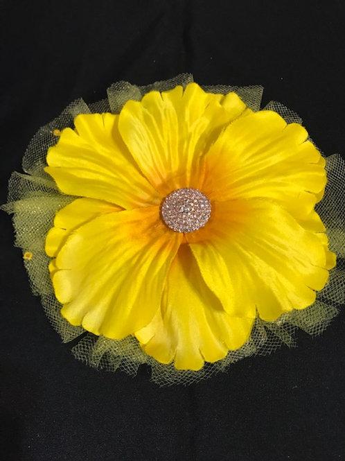 Medium bright yellow with rhinestone center
