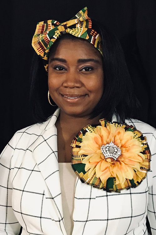 Ruby Bridges headband and lapel flower set