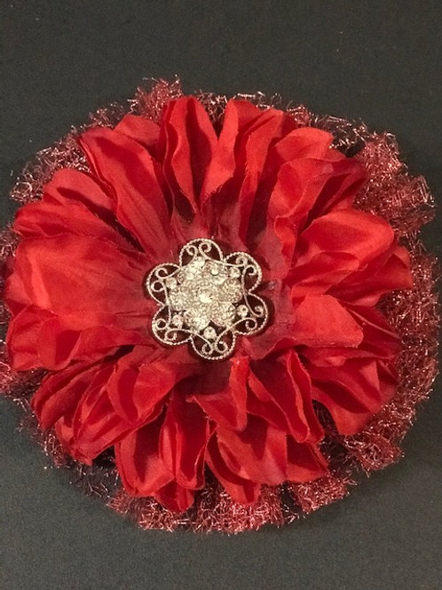 Medium red with rhinestones center