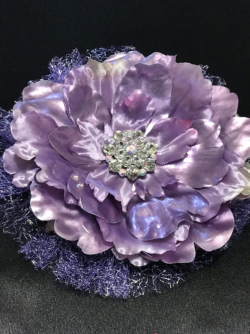 Large purple shine with rhinestone with lavender tulle