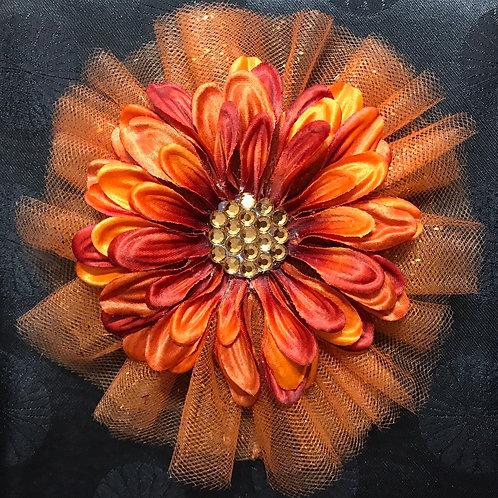 Medium Orange with gold center