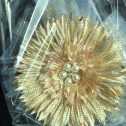Medium Cream flower with pearl center