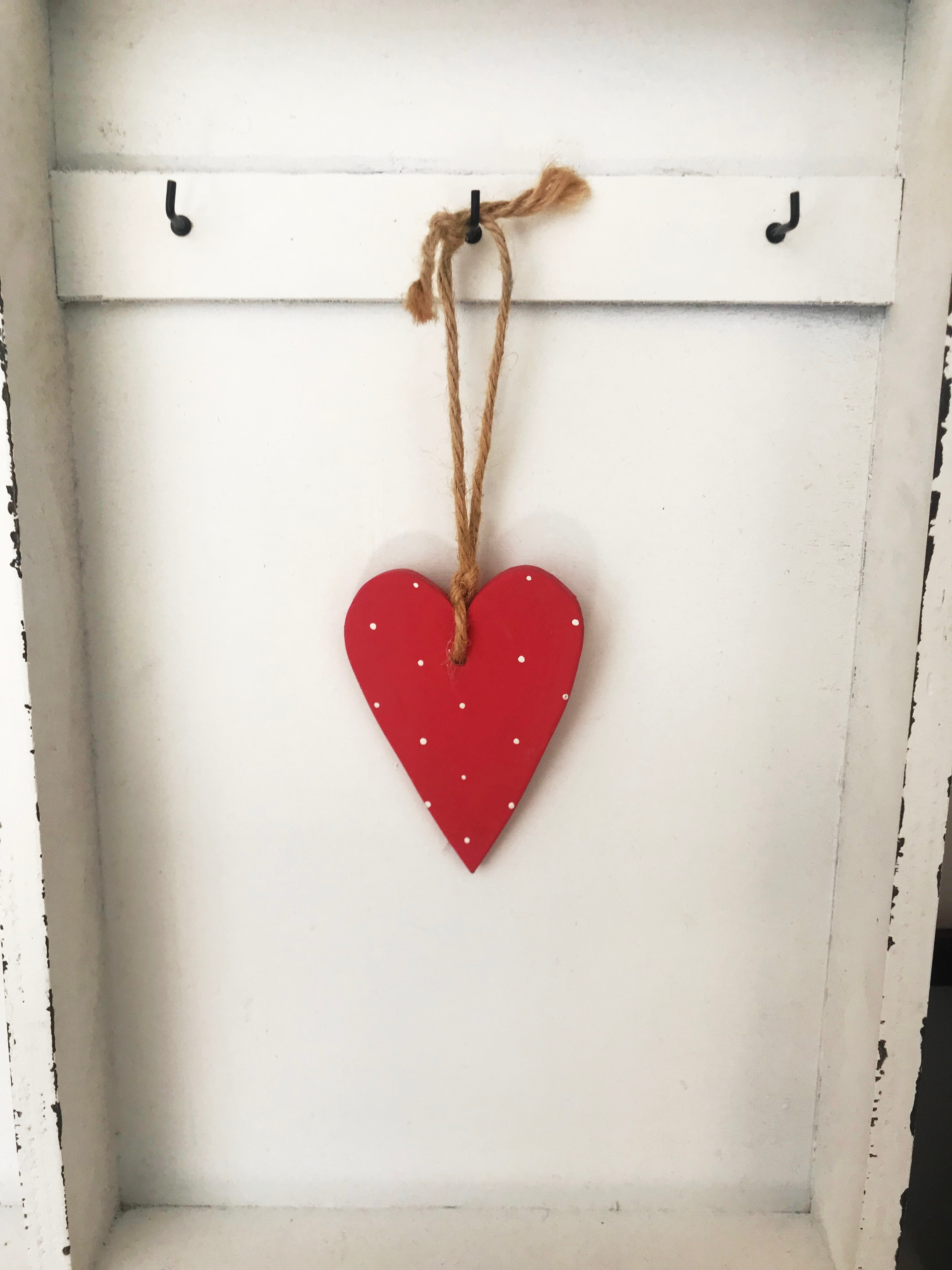 Handmade Wooden Hanging Hearts