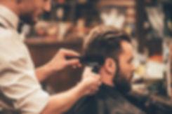 Man's hair cut