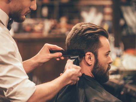 Men getting their neckline done