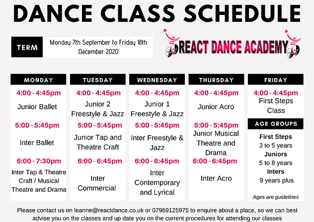 Dance classes in kenton for children in ballet, tap, theatre, jazz, freestyle, acro, commercial, contemporary IDTA training