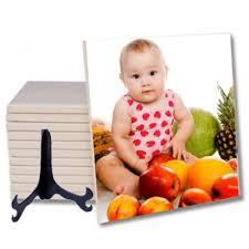 Azulejo personalizado em foto-produto com suporte