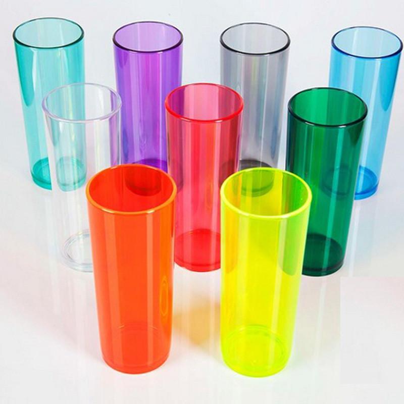 Copos long drink leitoso, translúcido e neon