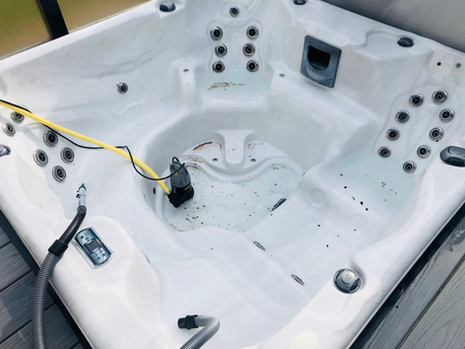 Clean/Empty Hot Tub (During)