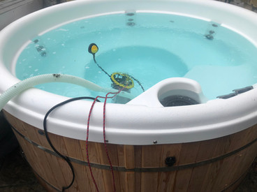 Regular Clients Hot Tub Being Emptied