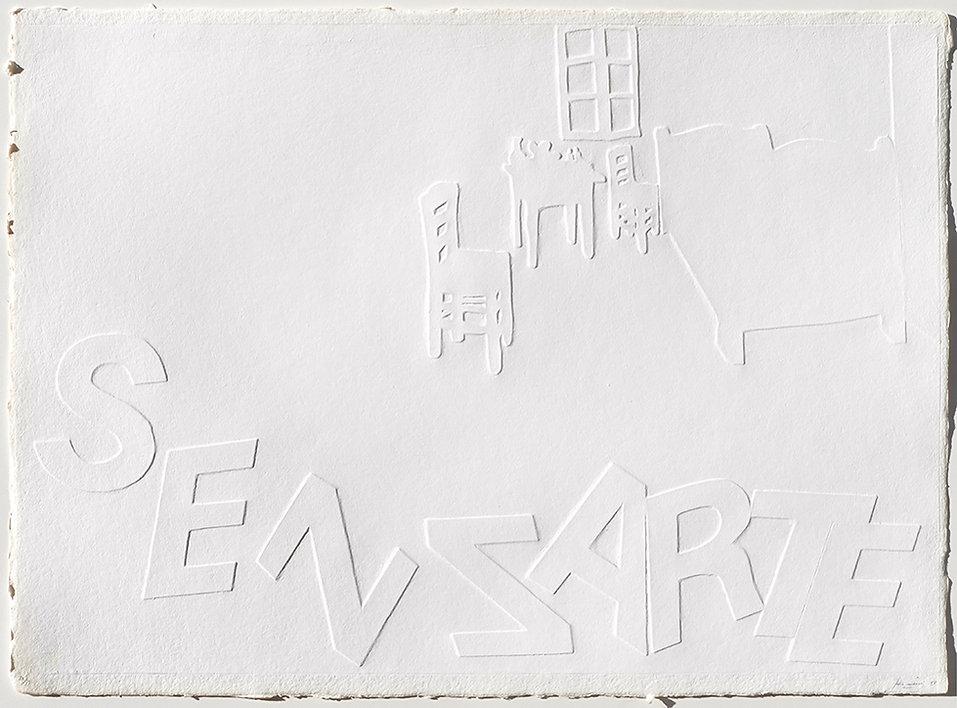 MAURI I. Maison d'Artiste, 1991, rilievo su carta