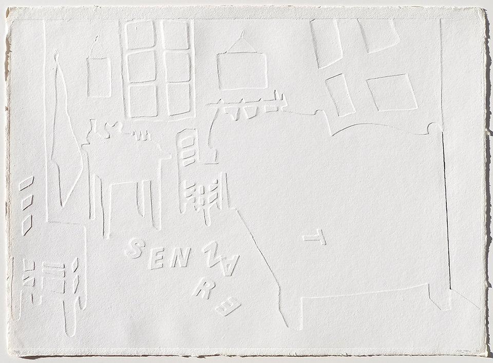 MAURI IV, Maison d'Artiste, 1991, rilievo su carta