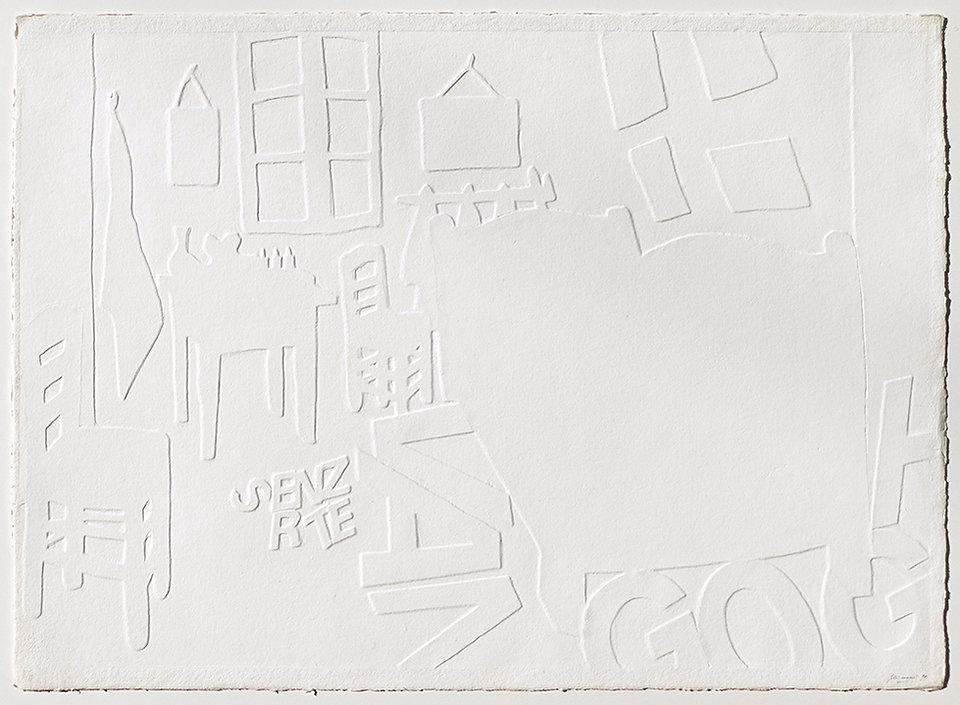 MAURI II, Maison d'Artiste, 1991, rilievo su carta