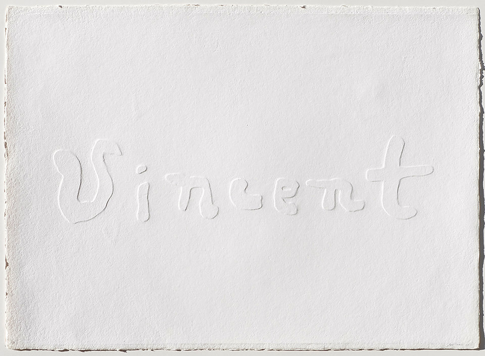MAURI III, Maison d'Artiste, 1991, rilievo su carta