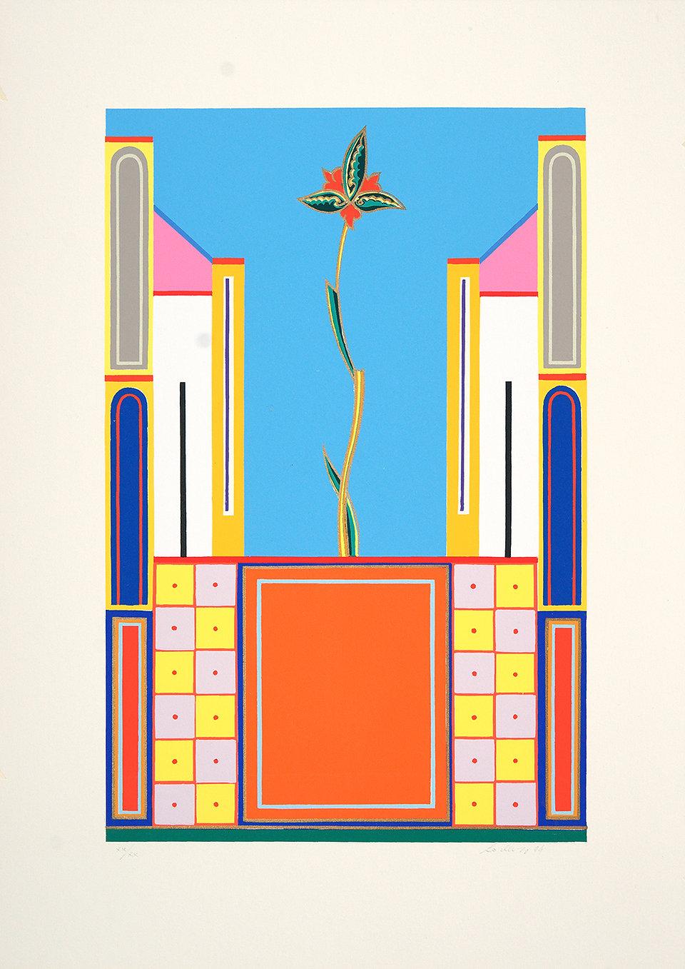 Lorenzo Bonechi, Città Celeste I, serigrafia