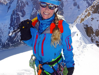 Aiguille Verte Summit! Route: Whymper Couloir .