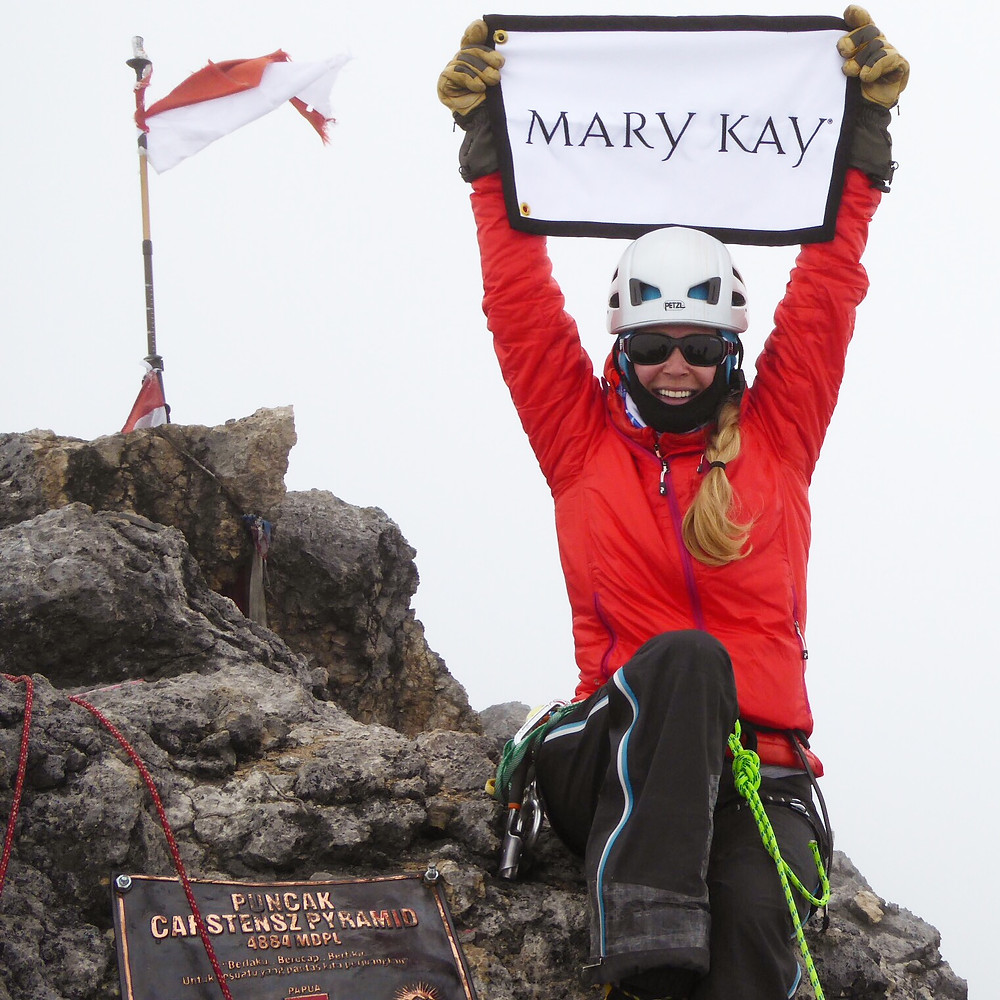 Completing the '8th' of the Seven Summits! Mary Kay goe to the top of Cartensz Pyramid in Indonesia!!!