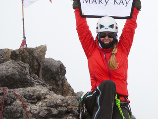 Completing the '8th' of the Seven Summits! Mary Kay goes to the top of 'Cartensz Pyramid