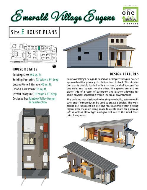 """EVE Site """"E"""" House Plans"""