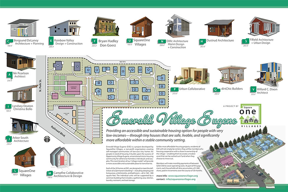 Emerald Village tiny house community