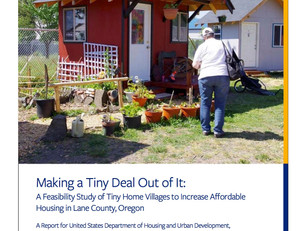 New study recommends tiny home villages to increase affordable housing
