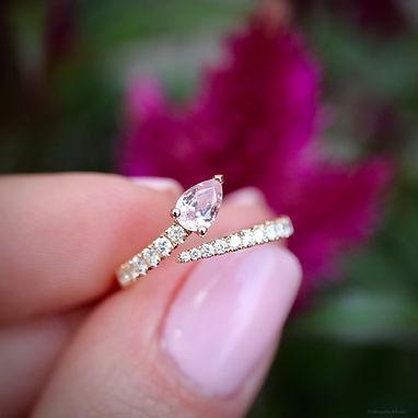 Awasi, Alexandra Khouri, Saphir rose, diamant , sur mesure , Londres, Paris