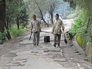פועלי כביש בהודו