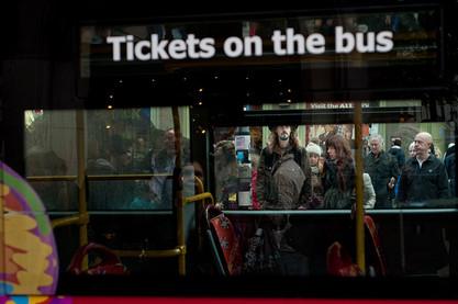 מבעד לחלון אוטובוס
