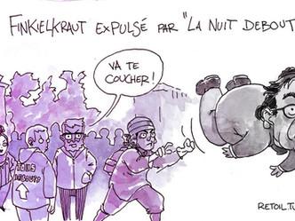 """Les """"citoyens"""" de nuit debout éjectent Alain Finkielkraut !"""