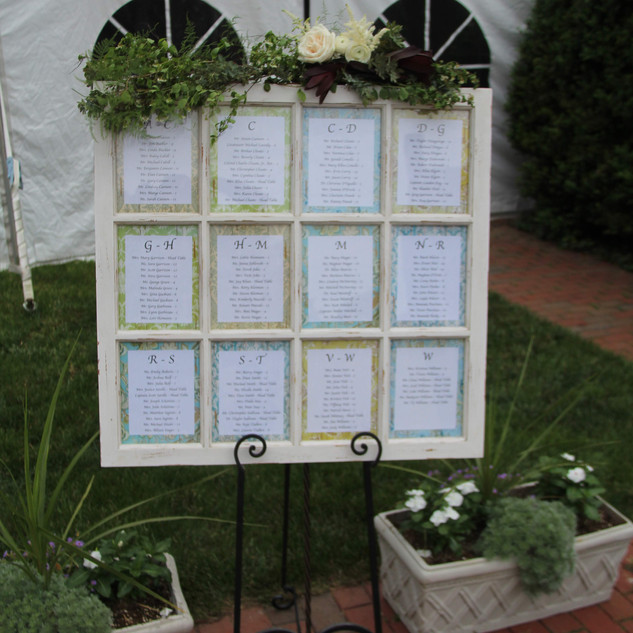 Seating Chart Flowers