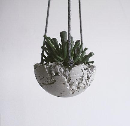 hanger vaso suspenso de concreto litos estúdio plume decoração minimalista moderna industrial escandinava moderna