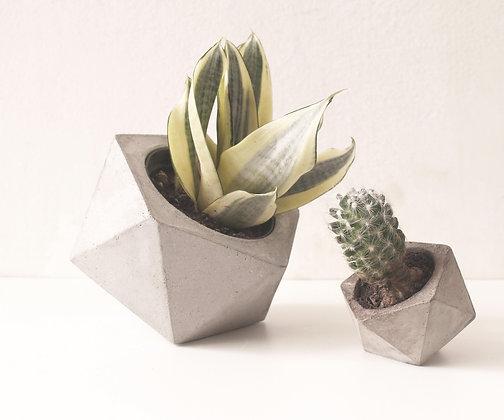 vaso de concreto geométrico estúdio plume decoração minimalista moderna industrial escandinava moderna