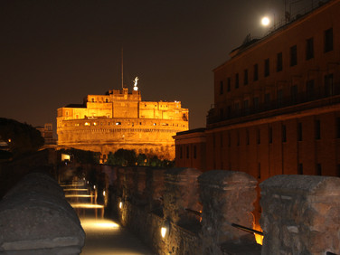 Castel Sant'Angelo view from Passetto