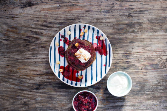 Grain Free Berry Pancakes