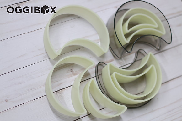 Oggibox 7pc Half Moon Nylon Cutter