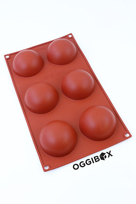 Oggibox 6-Cavity Half Sphere Silicone Mold