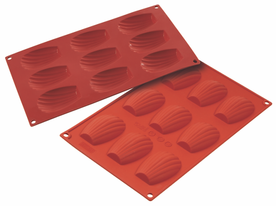 9-Cavity Shell Silicone Mold
