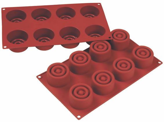 8-Cavity Round Silicone Mold