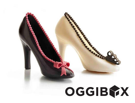 "Oggibox 3D 6"" x 5"" x 2.5"" Stiletto Heels Polycarbonate (PC) Chocolate and Candy"