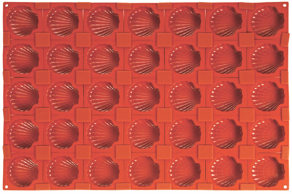 35-Cavity Shell Silicone Mold