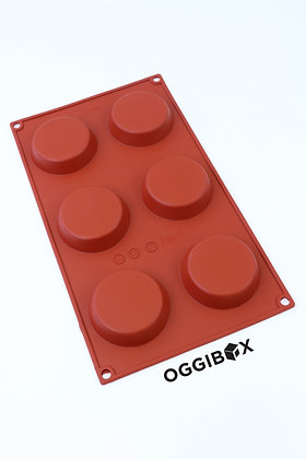 Oggibox 6-Cavity Flat Round Silicone Mold (P-46)