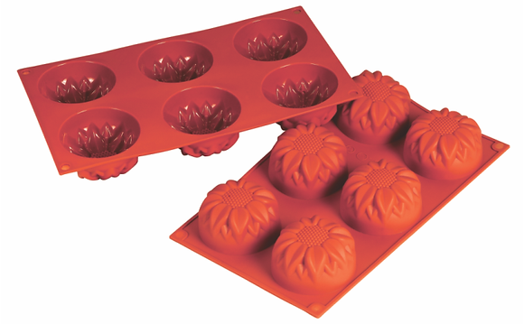 6-Cavity Flower Silicone Mold