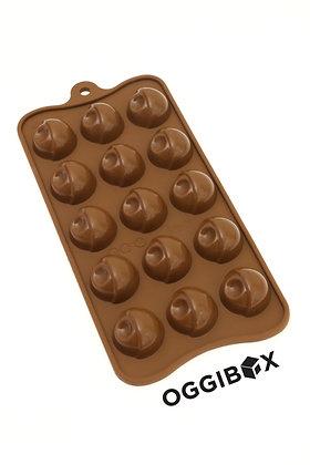 Oggibox 15 Contemporary Half Sphere Chocolate Silicone Mold